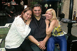 ICG Boss Dino with two good friends at Launch Party - Apr 2014
